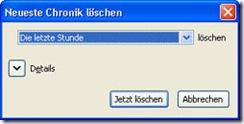 Firefox - Chronik löschen