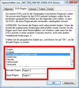 DVD-Ländercode 1/2