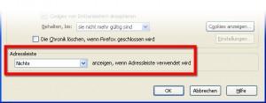 Firefox-Adressleiste