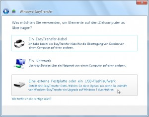Windows Easy Transfer 03/15