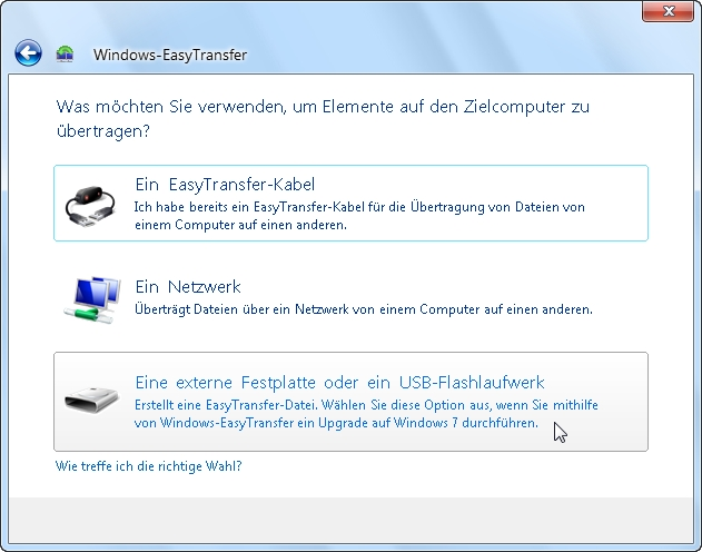 wie funktioniert easy transfer windows 10