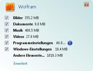 Windows Easy Transfer 06/15