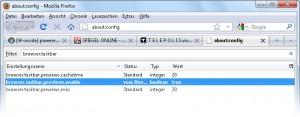 Echtzeitvorschau mit Firefox 3/4
