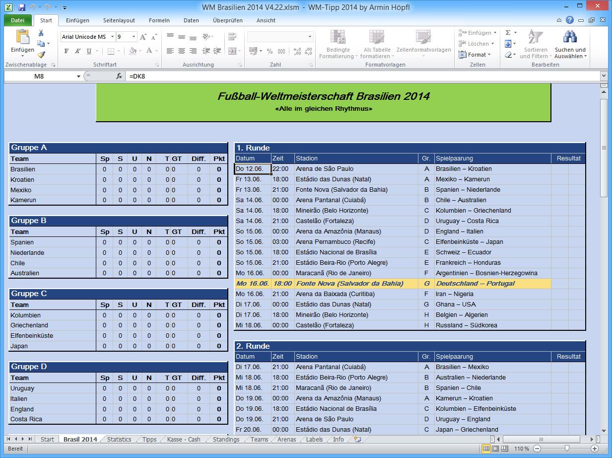 Mehr Spass an der Fußball-WM mit Excel – gieseke-buch.de