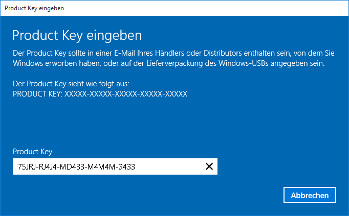 Windows 10 home auf pro upgraden mit vorhandenem product for Window 10 pro product key