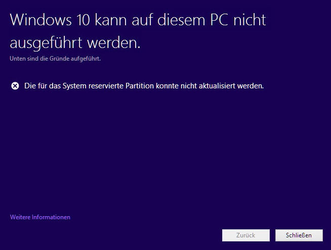 platz schaffen windows 10 1709