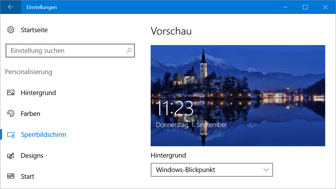 Windows 10 Windows Blickpunkt Bilder Vom Sperrbildschirm